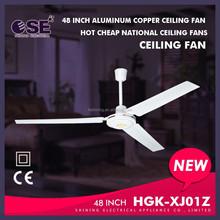 48 inch aluminum copper ceiling fan hot cheap national ceiling fans HGK-XJ01Z