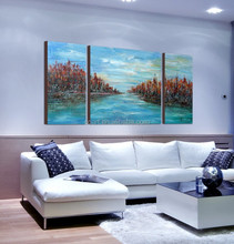 modern sea landscape canvas painting