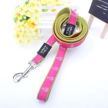 high tensity customed printed logo nylon dog leash wholesale