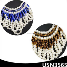 elegant fashion cubic zirconia jewellery natural pearl necklace