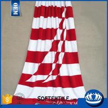 Chian manufacturer cheap custom print branded beach towels