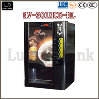 3 flavors hot and cold coffee vending machine