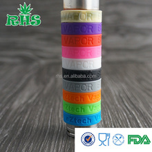 high quality casual style 18650 mod silicone vape band for Atomizer