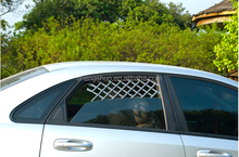 Expandable car vent window guard for pet vehicle products