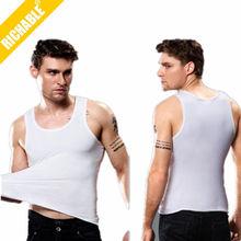 ATK016 Men cotton spandex tube, men cotton vest top, custom tank top