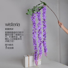 Beautiful Making Artificial Wisteria Flower China Factory Wholesale Artificial Flower For Wedding Home Hotel Wall Decoration