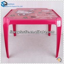 New Design Plastic Children Small Square Table