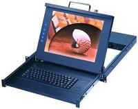 1u Rackmount TFT LCD Monitor Keyboard Drawer / Kvm Switch