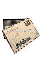 Vintage Train Newspaper Clippings Home Storage Boxes/Gift Box