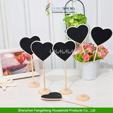 10pcs Love Heart Chalkboard Blackboard Wedding Table Numbers Place card Office Memo