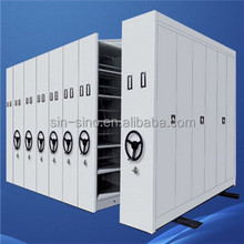 library/school furniture Mobile Compact Cabinet/ Manual Mass Shelf /Compact Shelving System