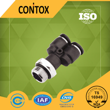 A142 PX pneumatic Y type male thread push in 6mm air hose fitting types with O ring