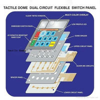 custom made silicone button rubber keypad