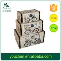 Bicycle Design Wooden Storage Box, Decorative Wooden Storage Case, Home Storage Set