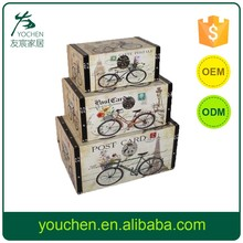 Bicycle Design Wooden Storage Box, Decorative Wooden Storage Case, Home Storage Set