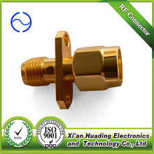 SMA flange mount male RF coaxial connector