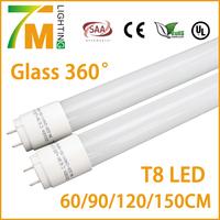 T8 LED tube 2 ft 600mm 9W 360 degree glass tube /pc tube light