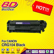 2015 China hottest products for canon compatible toner cartridge CRG104