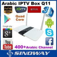 Wholesale pre-installed kodi xbmc tv box decoder Q11 Android 4.4 Cheap IPTV Set Top Box