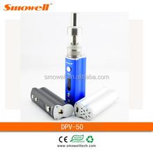 Smowell 2015 DPV-50 box mod e cig exgo v6 vamos e cigarette cig e-cigarette with factory price