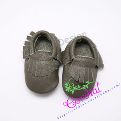 Wholesale Cheap Kids Shoes Genuine Leather Baby Shoes, Italian Leather Moccasin Baby Shoes