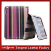 Strip Grid Stand Smart PU Leather unbreakable protective case for ipad Cover