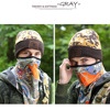100% acrylic custom camouflage leather patch beanies with high quality, cheap leather patch knitted hat for men and women