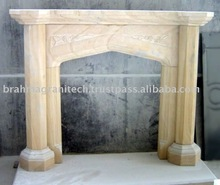 limestone fireplace mantles