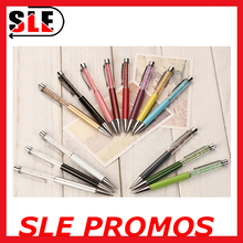 2015 new design Metal ballpoint pen with glitter for advertising/wedding