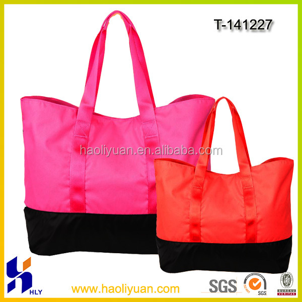 Polyester fashion promotional folding shopping bag
