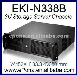 3U Compact Server case, Rackmount Chassis, industrial PC case KI-N338B