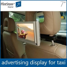 Flintstone 7 inch mini video player installed in back seat wireless LCD Small Display advertising player for taxi car