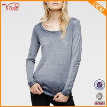 Manufacturer Wholesale Plain No Brand Ladies T Shirts With Long Sleeve