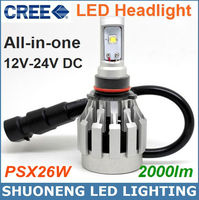 High Quality Cree 12V 24V 6500K 25W Head Light LED, 2000lm PSX26W Car LED Head Light, LED Auto Headlights