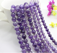 8mm natural real genuine good quality gemstone beads amethyst stone prices