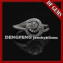 2015 charme 925 anel de pedras preciosas branco