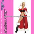 ML8013 Vestidos Señora de Santa Súper Largo-capucha del partido del traje del vestido rojo atractivo de la Navidad