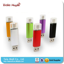 NEW 4GB 8GB 16GB 32GB 64GB OTG USB flash drive metal usb stick Support Smart phone+PC really capacity u disk