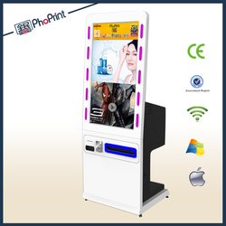 professional fatory alone hd advertising led lighting touch screen/china supplier/led light/free picture frame printer kiosk