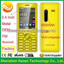 2014 China 2.4 Inch Very Cheap CellPhones with Bluetooth Metal Long Standby GPRS Factory