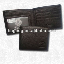 Hot selling fashion men pu leather wallet