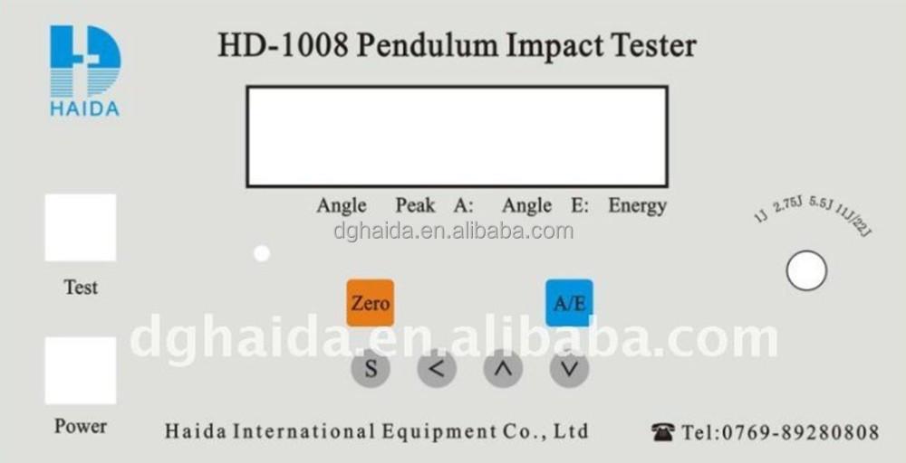 péndulo de impacto máquina de prueba