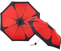 Best Choice Products New Style Foxnovo Dual-purpose Novelty Sunflower Print Style 3-Folding Anti-UV Sun /Rain Manual Umbrella