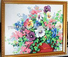 Wooden PVC flower picture frame new design in 2012