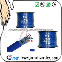 Fast Delivery STP/UTP 24AWG Cat5/Cat5e PVC Ehternet Cable, UL List 0.5mm Twisted STP Cat5 Copper/CCA Cable