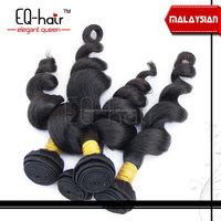 Larger stock 5a grade 100% human weaving Virgin Malaysian Hair