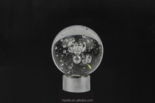 Crystal Glass Bubble Finial for Curtain Rod