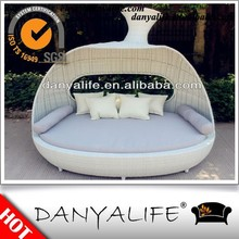 DYBED-D1227 2015 NEW BED Round Beach Sun Bed Outdoor Patio Sofa Bed
