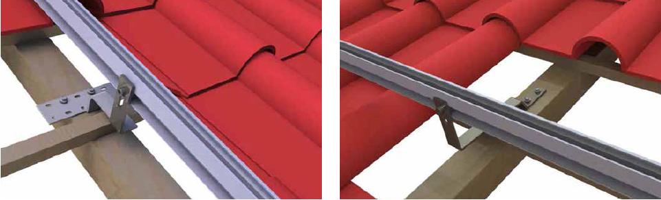 Solar PV Bracket Flat Tile Roof Hook