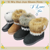 Kids Leather Boots Indian Fur Boots